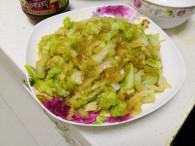 圆白菜炒粉条的做法