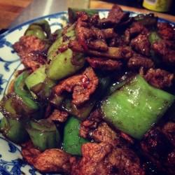 【粤菜】-- 香菇青椒炒肉片