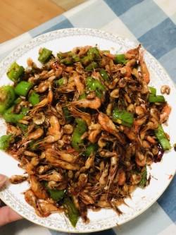 青椒炒小虾!