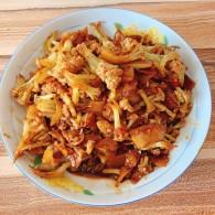 干锅有机菜花的做法
