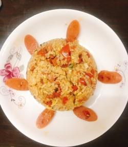 鲍鱼虾仁番茄炒饭