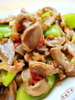 剁椒辣炒鸡胗 的做法
