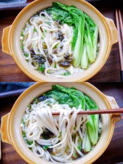 榨菜清汤挂面