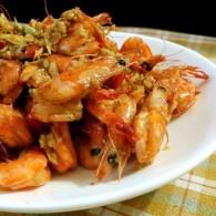 椒盐蒜蓉基围虾的做法