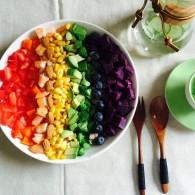 彩虹沙拉的做法_美食方法