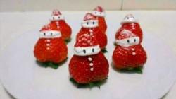 【番茄配方】圣诞草莓雪人蛋糕——草莓控雪人蛋糕