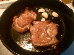 法香煎鸡腿肉