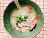 香菇鸡肉粥、海鲜粥(图)
