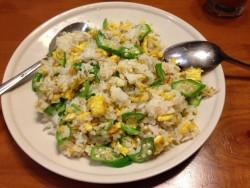 秋葵蛋炒饭---混搭的食材也美味