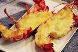 黄油芝士焗龙虾+龙虾泡饭的做法