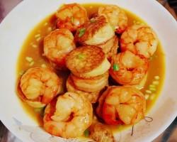 跟老杨学做菜——虾仁日本豆腐汤