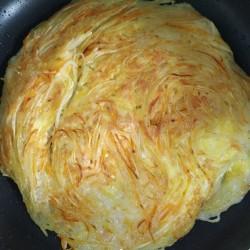 孜然土豆丝煎饼怎么做好吃 孜然土豆丝煎饼