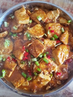 爱上干锅菜之干锅香煎豆腐