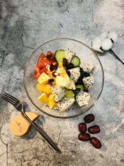 瘦身晚餐-酸奶水果沙拉