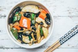 双椒炒素菜