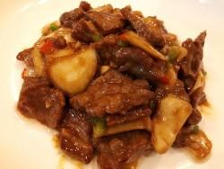 杏鲍菇炒牛肉粒