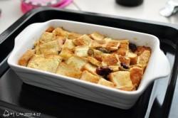 香滑软嫩---蓝莓面包布丁