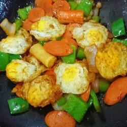 硬核菜谱制作人杭椒炒鹌鹑蛋的做法