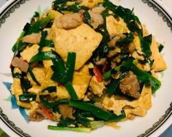 香椿肉片溜豆腐