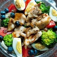 便当沙拉-鸡胸肉蔬菜沙拉的做法