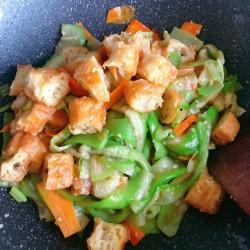 冰箱剩余食材大改造丝瓜炒油条的做法