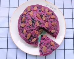 电饭锅版紫薯发糕