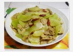 [菜谱换礼]--莴笋炒肉片(1)