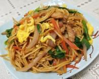 鸡毛菜肉丝炒面条怎么做好吃 鸡毛菜肉丝炒面条的做法,配方
