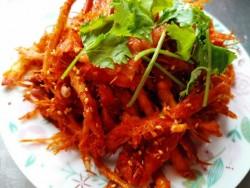 炝拌明太鱼干—地道韩餐料理