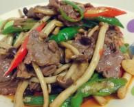 芹菜茶树菇炒牛肉怎么做好吃 芹菜茶树菇炒牛肉的做法大全