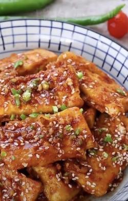 香煎孜然豆腐
