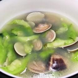 鸳鸯蛋肉末丝瓜汤