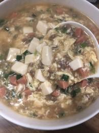 荠菜肉末豆腐羹的做法