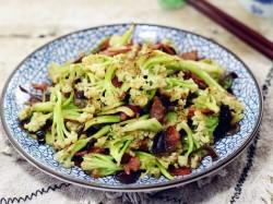 干煸花菜的做法_美食方法