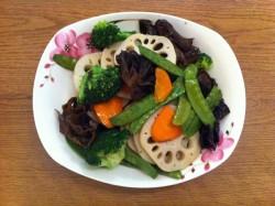 《小青de美食厨房》---过节减肥消脂菜-清炒时蔬