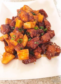 家常菜。荔枝肉