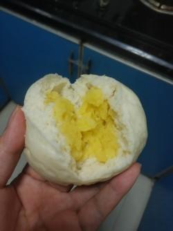 玉兔奶黄包的做法