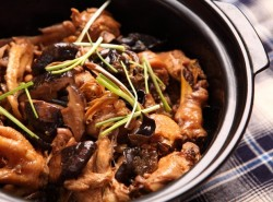 海参冬菇焖鸡的做法