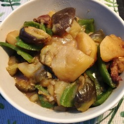 土豆炖茄子(东北特色)
