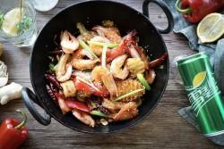 干锅土豆香辣虾的做法