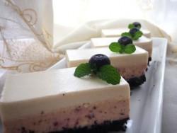 蓝莓芝士慕斯蛋糕(视频菜谱) 的做法