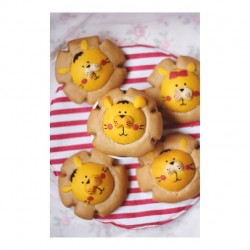 肉松海苔小狮子面包