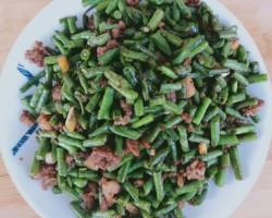 橄榄菜肉沫豆角