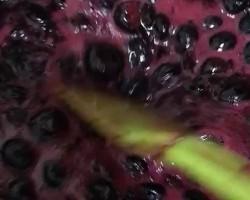 蔓越莓蓝莓酱吐司布丁