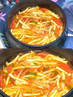 番茄菌菇汤的做法