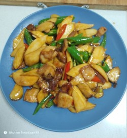 青椒杏鲍菇炒肉片