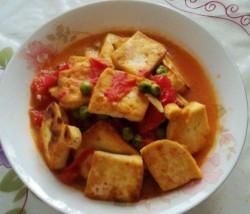 番茄豆腐素菜汤
