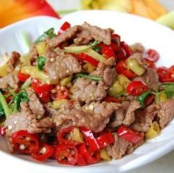 湘菜经典野山椒炒牛肉