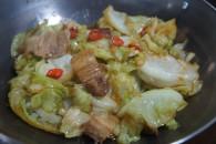 干锅包菜素鸡的做法