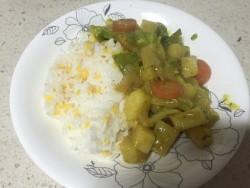 一个人的晚餐——咖喱素菜饭